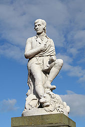 Statue of Robert Burns in Dumfries, Scotland.