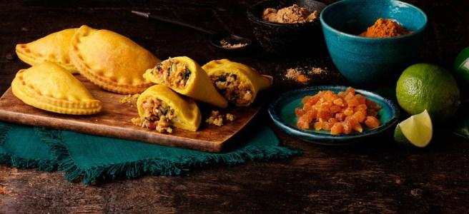 Moroccan Spiced Vegetarian Haggis Empanadas