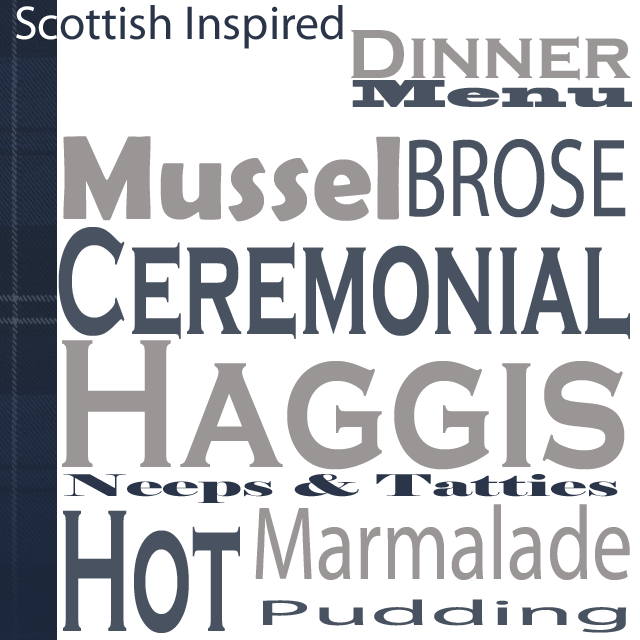 Scottish Inspired Dinner Party Menu