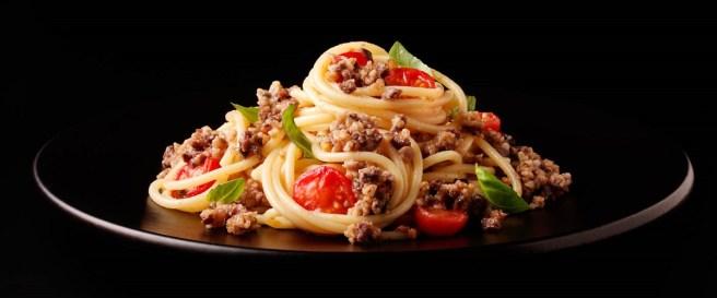 Haggis and Cheery Tomato Spaghetti, courtesy of Macsween haggis